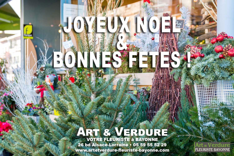 Fleurs et Plantes de Noel Joyeuses Fetes 2017 avec Art et Verdure pour tous vos évènements