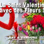 Vos fleurs et plantes pour la Saint Valentin chez Art et Verdure Carlos Paz Fleuriste Bayonne (64)