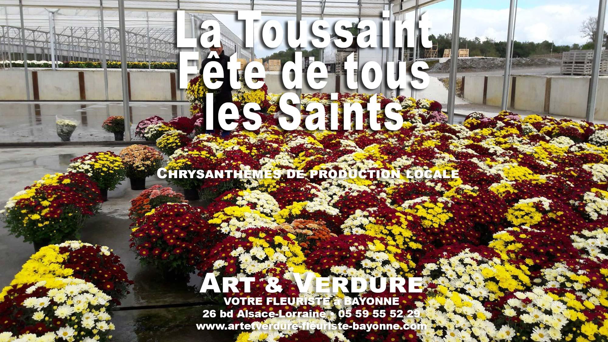 La Toussaint 2019 chrysanthèmes Fete de tous les Saints Art et Verdure fleurs plantes et bouquets